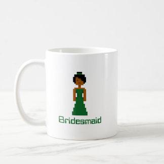Pixel Bridesmaid 2 Basic White Mug