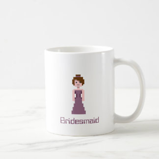 Pixel Bridesmaid - Purple with Brown Eyes Custom Basic White Mug