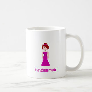 Pixel Bridesmaid - Purple with Grey Eyes Custom Basic White Mug