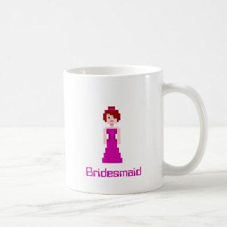Pixel Bridesmaid - Purple with Grey Eyes Custom Basic White Mug