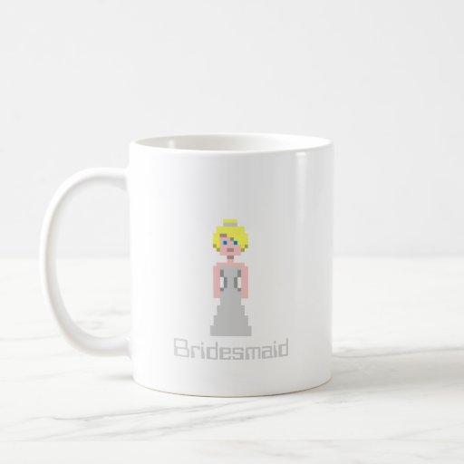 Pixel Bridesmaid - Silver Mug