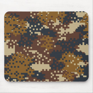 Pixel Brown Camouflage Mouse Mat