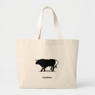 Pixel Bull Tote Bags