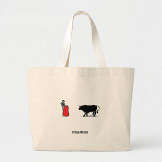 Pixel Bullfighter Canvas Bags