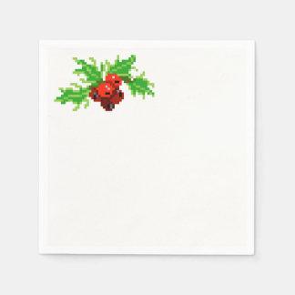 Pixel Christmas Napkin Disposable Napkin