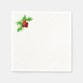 Pixel Christmas Paper Napkins