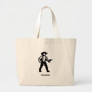 Pixel Cowboy Jumbo Tote Bag