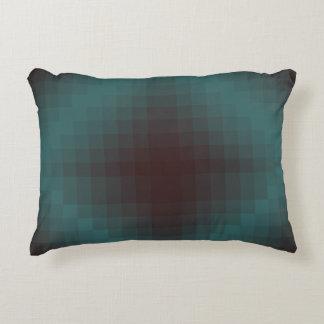 Pixel cyanogen-red decorative cushion