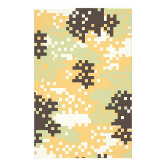 Pixel Desert Camouflage Stationery