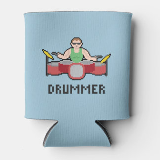 Pixel Drummer Can Cooler