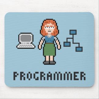 Pixel Female Programmer Mousepad