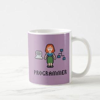 Pixel Female Programmer Mug