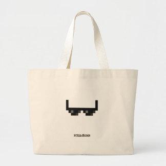 Pixel_Glasses Jumbo Tote Bag