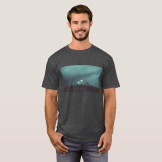 Pixel Glitch Mountain Design T-Shirt