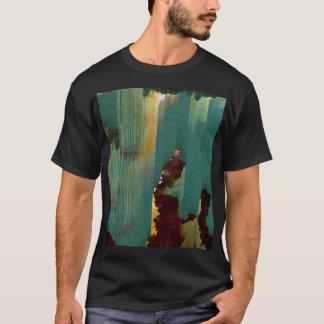 Pixel Glitch Nebula Design T-Shirt