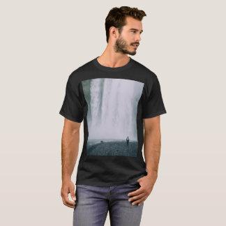Pixel Glitch Waterfall Design T-Shirt