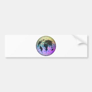 Pixel Globe Bumper Sticker