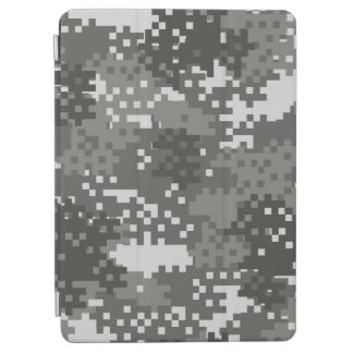 Pixel Grey & White Urban Camouflage iPad Air Cover