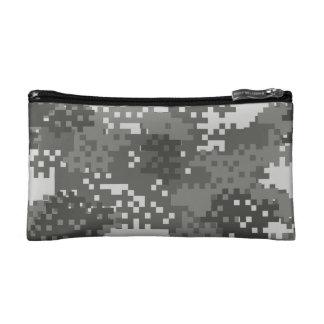 Pixel Grey & White Urban Camouflage Makeup Bags
