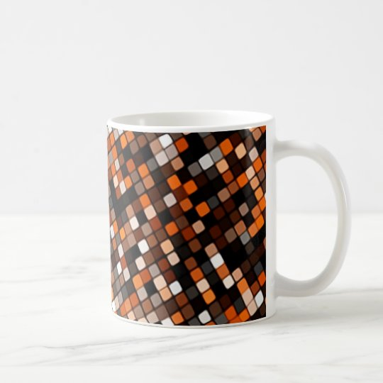 Pixel Grid Coffee Mug