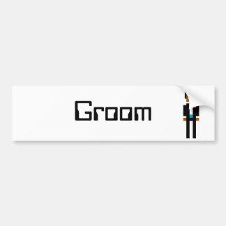 Pixel Groom 2 Bumper Stickers