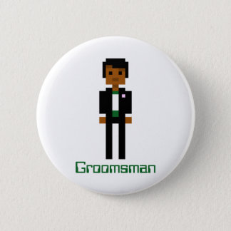 Pixel Groomsman 2 6 Cm Round Badge