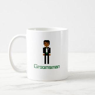 Pixel Groomsman 2 Basic White Mug