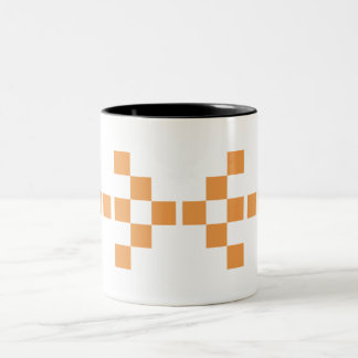 Pixel Hand of Eris Big orange mug
