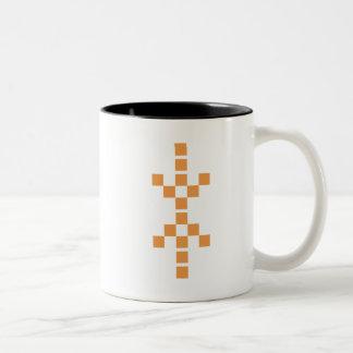 Pixel Hand of Eris (orange) mug