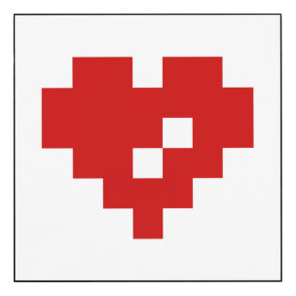Pixel Heart 8 Bit Love