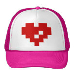 Pixel Heart 8 Bit Love Mesh Hat