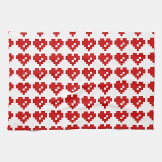 Pixel Heart 8 Bit Love Tea Towel