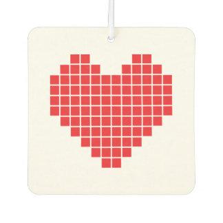 Pixel Heart Car Air Freshener