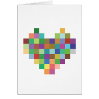 Pixel Heart Card