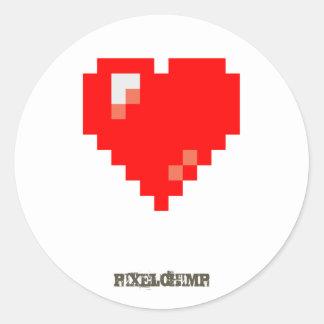 Pixel_Heart Classic Round Sticker