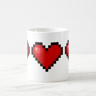 Pixel heart mugs