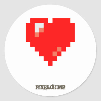 Pixel_Heart Round Sticker