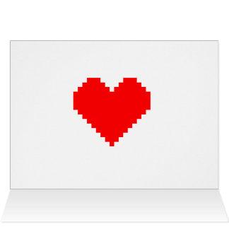 Pixel Heart Thank You Card