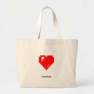 Pixel_Heart Jumbo Tote Bag