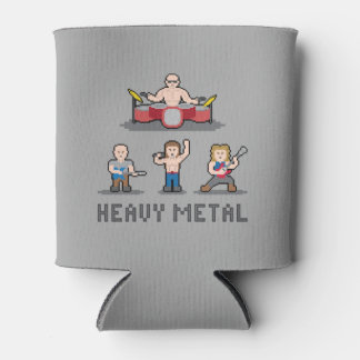 Pixel Heavy Metal Can Cooler