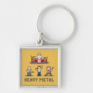 Pixel Heavy Metal Keychain