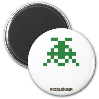 Pixel_Invader Fridge Magnet