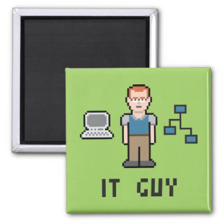 Pixel IT Guy Magnet
