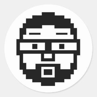 Pixel Joe Classic Round Sticker