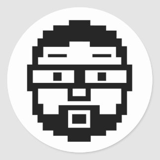 Pixel Joe Round Sticker