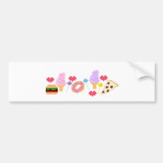 Pixel Junk Food Art Bumper Sticker