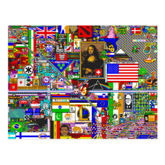 pixel kind by r/place postcard