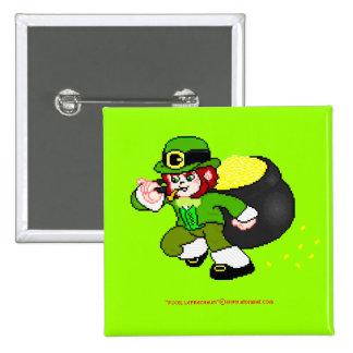 Pixel Leprechaun Button 2