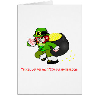 Pixel Leprechaun Card 1