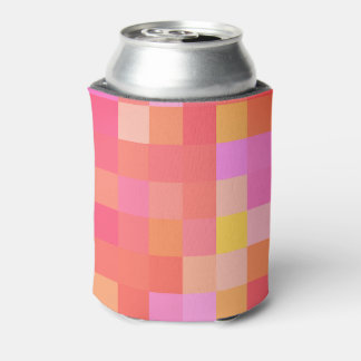 Pixel Multicolor Red/Pink/Yellow/Orange/Lavender Can Cooler
